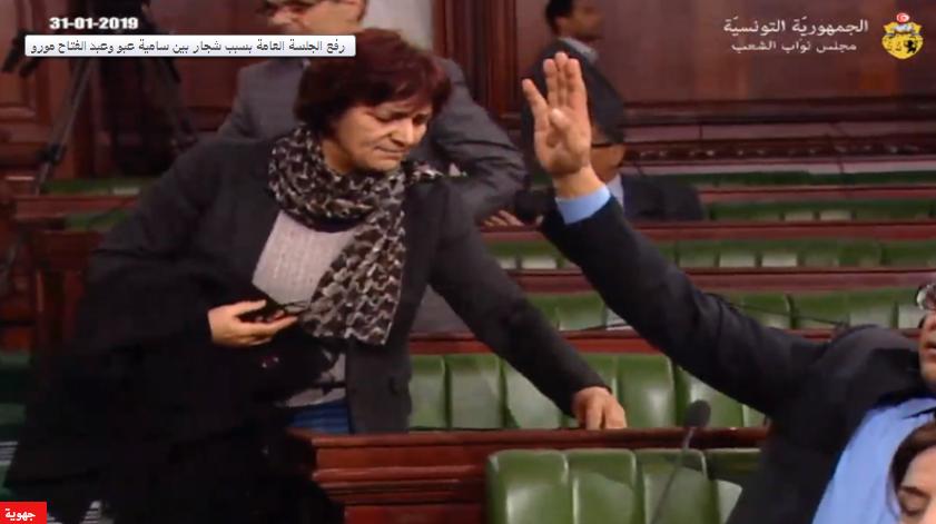 البرلمان :رفع الجلسة اثر ملاسنة بين مورو و سامية عبو