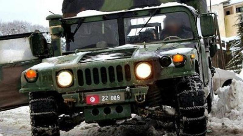وزارة الدفاع الوطني:200 عسكري و17  معدة دارجة للتدخل بولاية القصرين