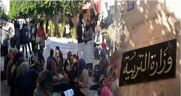 القصرين : الاساتذة النواب يواصلون تحركاتهم الاحتجاجية