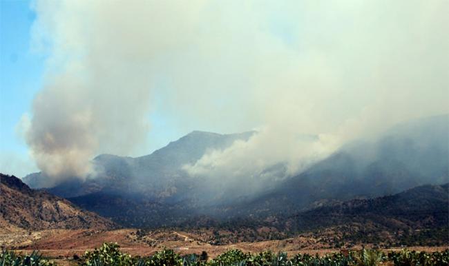 السيطرة على حريق جبل عبد العظيم بفريانة