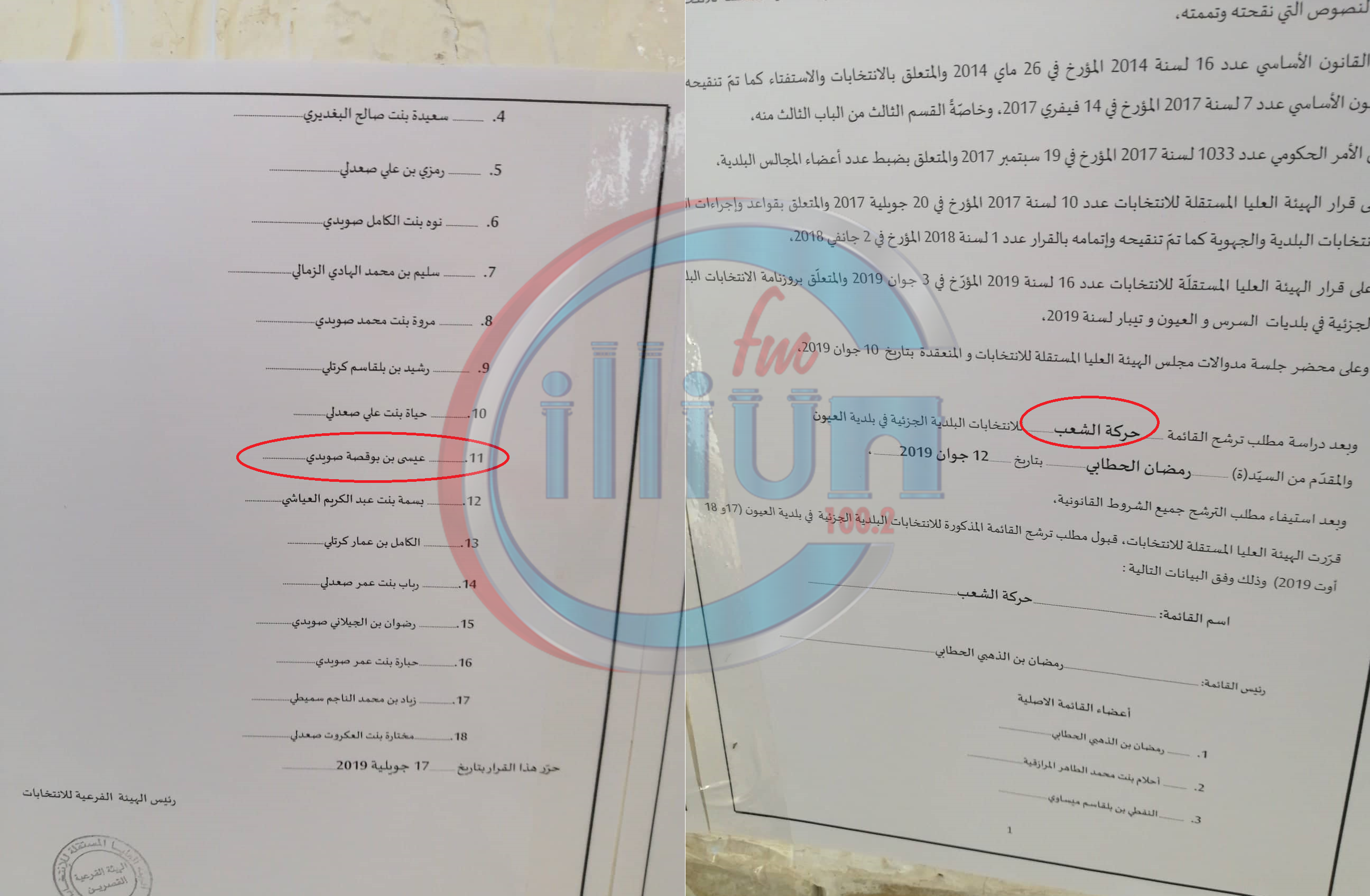 مهزلة انتخابية  : مواطن يترشح في قائمتين انتخابيتين بالعيون