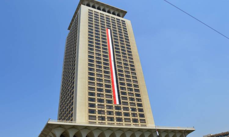 حريق في مبنى الخارجية المصرية