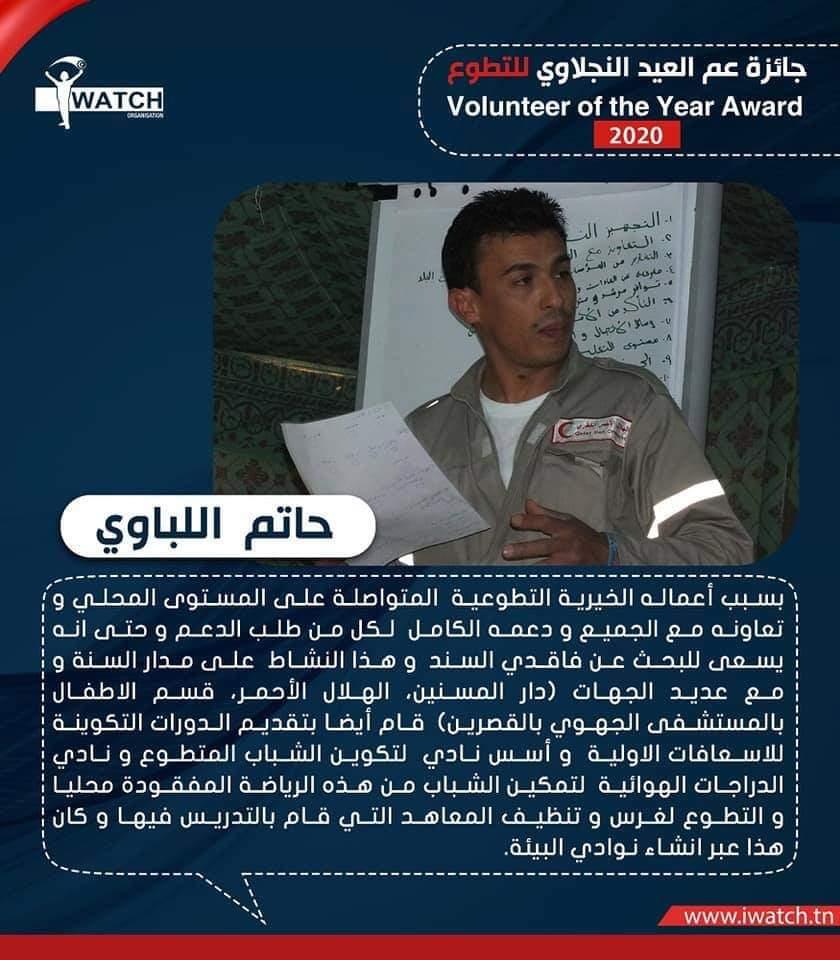 حاتم اللباوي يتوج بجائزة