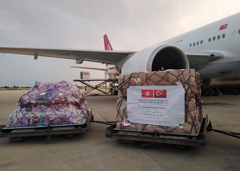 وصول شحنة من المساعدات الطبية من تركيا