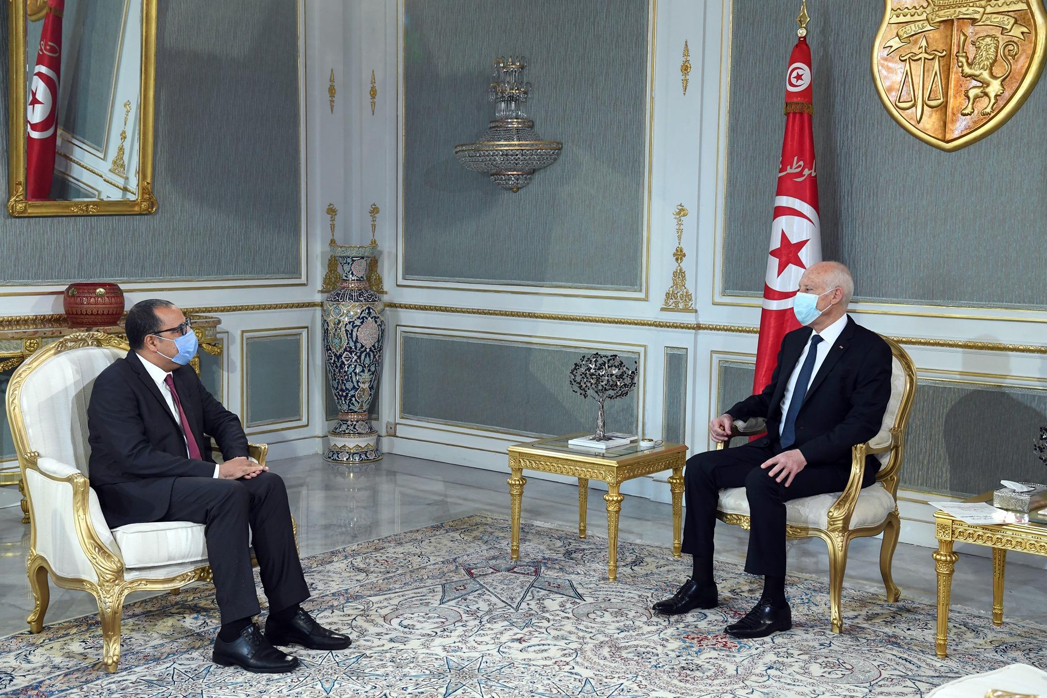 رئيس الجمهورية يلتقي المشيشي المكلف بتكوين الحكومة