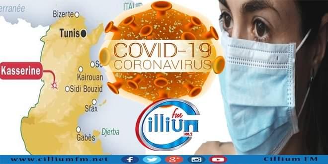 القصرين : عدد الاصابات بفيروس كورونا يرتفع الى 1225 حالة .